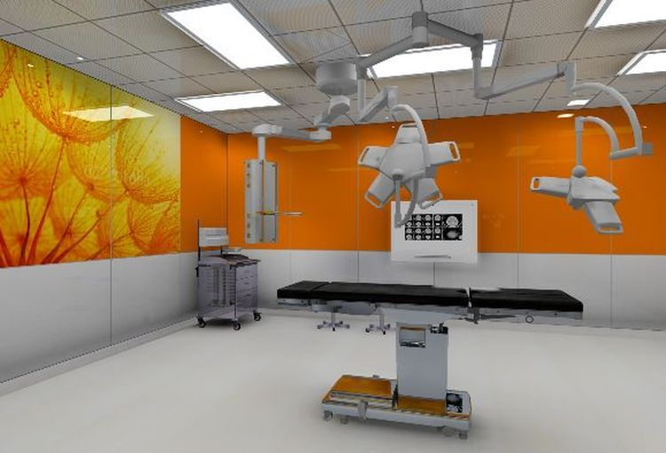 Tak mają wyglądać sale operacyjne i pomieszczenia szpitalne (wizualizacje)