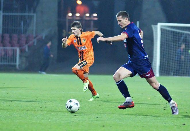 W końcu gola w barwach Odry strzelił Marcin Chmiest