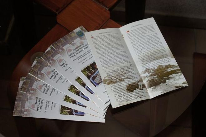 Mszana: wydali folder opisujący historię Marszu Śmierci , UG Mszana