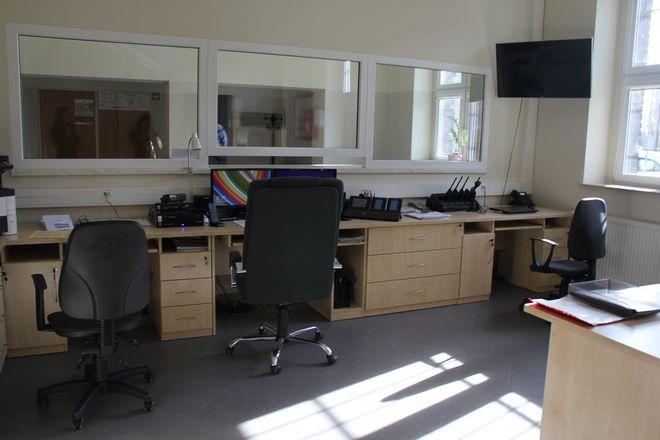 Wyremontowane wnętrze i o wiele więcej miejsca niż w ''starym'' lokum komisariatu w Radlinie.