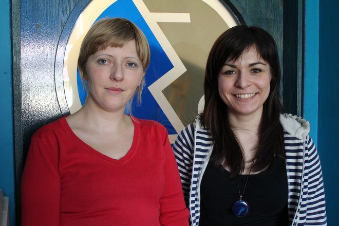 Magdalena Świergolik i Dorota Patas - autorki projektu ''Para buch, teatr w ruch''