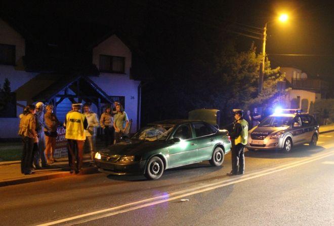 Ofiara wypadku została przewieziona do szpitala