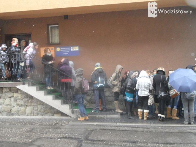 Tłumy podczas targów pracy w Wodzisławiu.