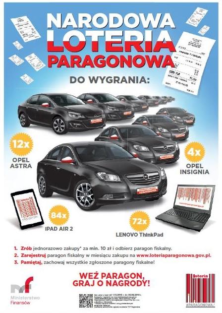 Ruszyła Narodowa Loteria Paragonowa, mat. prasowe