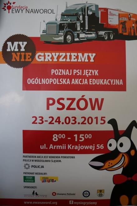 """Wodzisławska policja włącza się w akcję """"My nie gryziemy"""", materiały prasowe"""