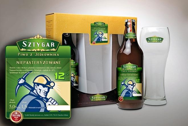 Produktem markowym nowego miejsca ma być piwo Sztygar. Wizualizacja poglądowa.