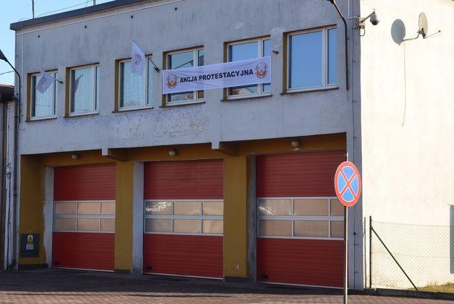Strażacy protestują ponieważ już czwarty rok z rzędu nie zostali objęci podwyżkami