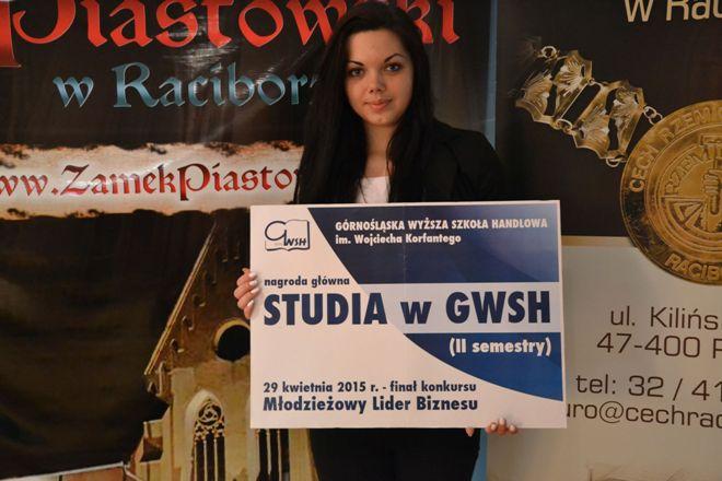 Laureatka konkursu, Roksana Gatner z Zespołu Szkół nr 2 w Jastrzębiu-Zdroju