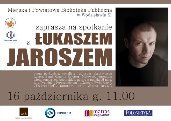 Poeta i muzyk odwiedzi wodzisławską bibliotekę, materiały prasowe