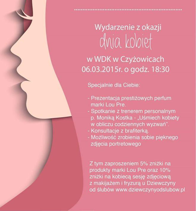 Kobiece atrakcje na Dzień Kobiet z WDK Czyżowice, materiały prasowe