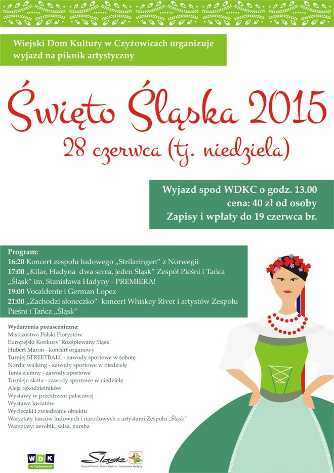 WDK Czyżowice: Pojedź na Wielki Piknik Artystyczny Święto Śląska, materiały prasowe