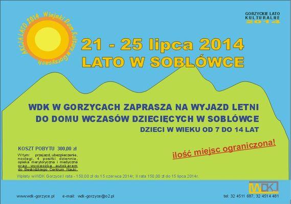 WDK Gorzyce: lato w Soblówce, Materiały prasowe