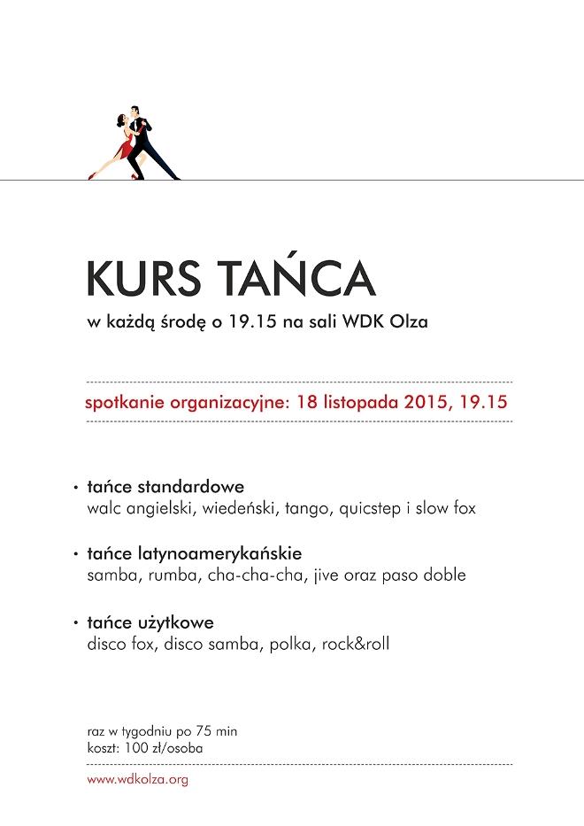Już jutro startuje kurs tańca w WDK Olza, materiały prasowe