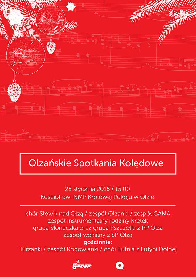 WDK Olza: Przyjdź na Olzańskie Spotkania Kolędowe, materiały prasowe