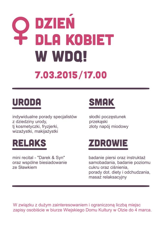 Cztery strefy pełne atrakcji na Dzień Kobiet w WDK Olza, materiały prasowe