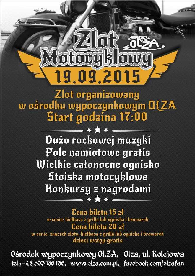 Miłośnicy motocykli spotkają się w Olzie, materiały prasowe
