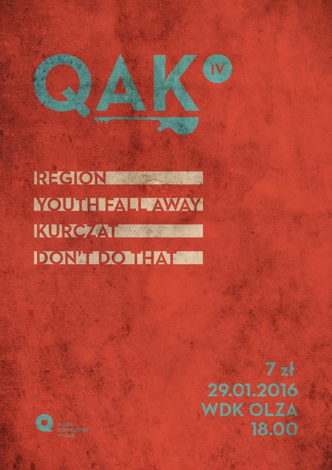 QAK IV - rockowe brzmienia wracają do WDK Olza, materiały prasowe WDK Olza