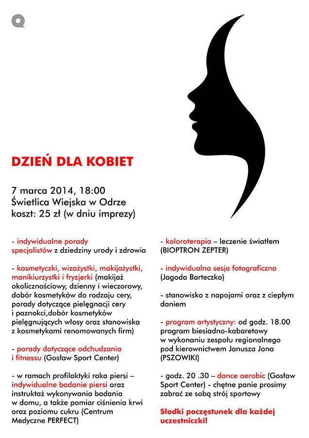 Dzień dla Kobiet w WDK Olza, Materiały prasowe