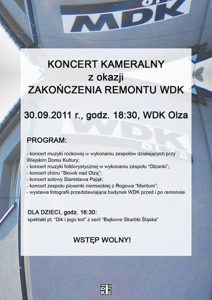 WDK Olza: będą świętować ukończenie remontu, Materiały prasowe