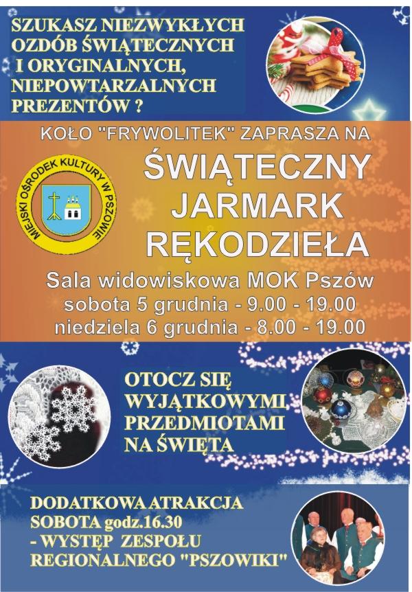 Mikołajki z dwoma jarmarkami w Pszowie! , materiały prasowe