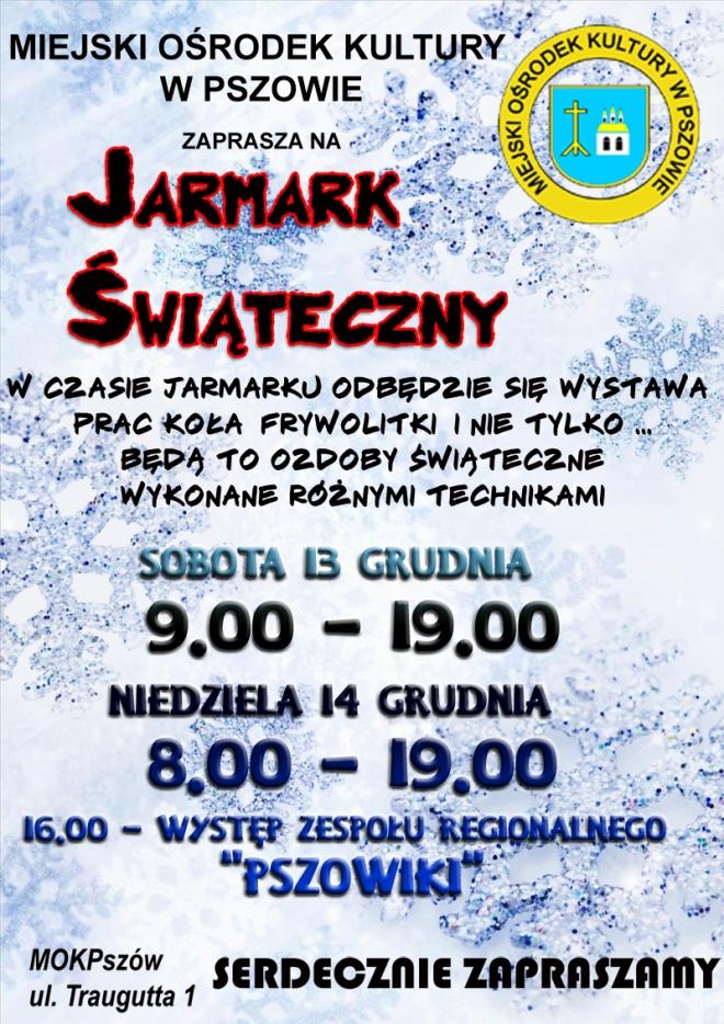 Jarmark Świąteczny w Pszowie, materiały prasowe