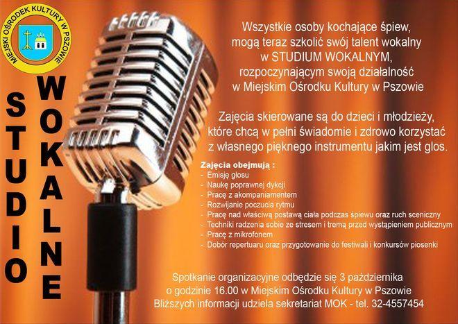 W Pszowie rusza Studio wokalne, Materiały prasowe