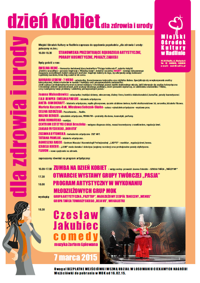 Dzień Kobiet dla zdrowia i urody w Radlinie, materiały prasowe