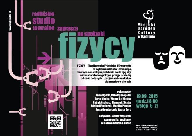 """Zobacz """"Fizyków"""" na nowej scenie radlińskiego MOK-u , materiały prasowe"""