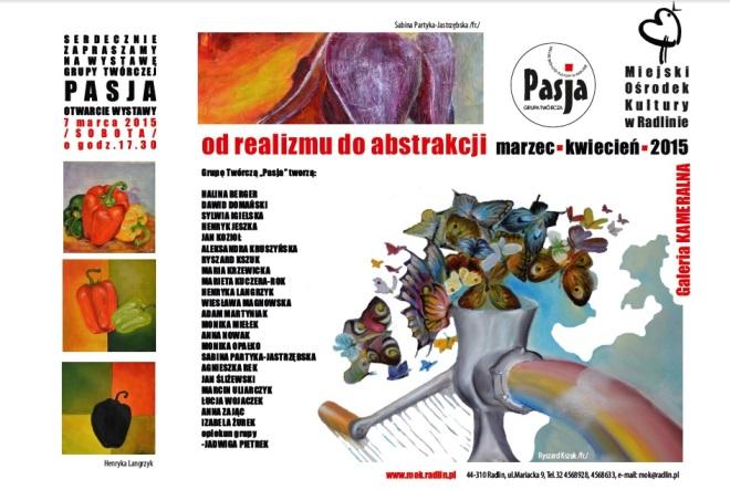 """""""Od realizmu do abstrakcji"""" – zobacz wystawę Grupy Twórczej Pasja, materiały prasowe"""