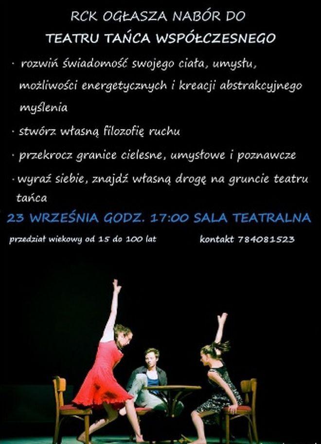 RCK: nabór do grupy teatru tańca współczesnego, Materiały prasowe