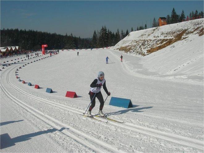 Sonia Fulneczek podczas biegu stylem klasycznym