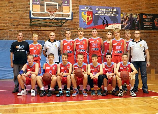 Młodzi koszykarze MKS-u Wodzisław Śląski wygrali mecz z MOSiR-em Cieszyn i awansowali do Finału ''A'' Mistrzostw Śląska