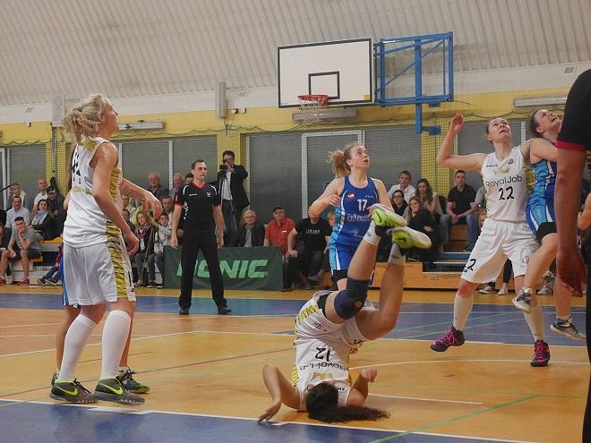 Zawodniczki Olimpii Wodzisław wygrały pierwszy mecz turnieju finałowego przeciwko MKS-owi Polkowice 67:60
