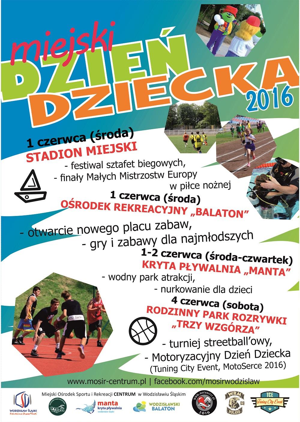 Plakat promujący Miejski Dzień Dziecka w Wodzisławiu Śląskim